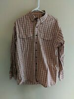 Lucchese Classics Red/Tan Plaid Long Sleeve Shirt Size M