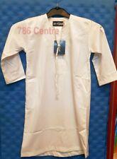 WHITE Omani Stile Ragazzi bambini piena lunghezza jubbahmuslim araba thobethawb Nuovo Nato