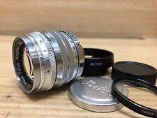 *Near Mint - w/ Rare Cap* Tokyo Kogaku Topcor S 5cm 50mm f/2 Lens Leica LTM L39