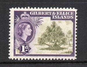Gilbert & Ellice Islands - 1956-62, 1d Brown-Olive & Deep Violet (sg65) MNH
