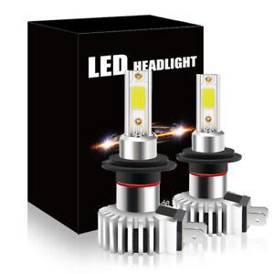 2X Super Mini H7 LED Car Headlight Conversion Kit Hi/Low Beam Bulbs 60W 6600LM
