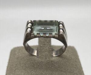 Antiker 835er Silber Ring | Aquamarin