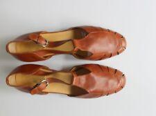 Women's Lavorazione Artigiana Brown Leather Strappy Shoes / Sandals Size 39 1/2