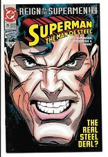 Superman: Man of Steel #25! High Grade! 1st appearance Black Superman Suit!