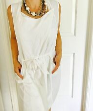 VERONIKA MAINE WOMENS WRAP DRESS WHITE PURE VISCOSE SUMMER WORK EVENING SZ 12