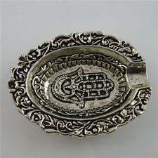 11844 Vintage Silver Tone Mini Hand of Fatima Hamesh Hand Hamsa Hand Ashtray
