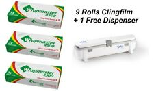 "Wrapmaster 18"" Clingfilm 4500 9 x Refill Rolls 45cm x 300m PLUS FREE DISPENSER"