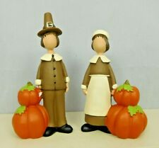 Set of two small pilgrims with pumpkins - New by Blossom Bucket #12425