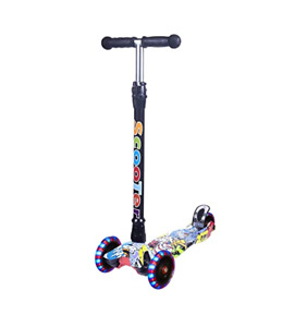 Yuanj Graffiti Three-Wheel Scooter Multicolour