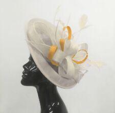 a3a4eb57e3227 Caprilite Big Saucer Sinamay On Headband Fascinator Wedding Ladies Ascot Hat