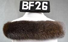 Kapuzenstreifen 55cm Pelzrand Fellstreifen Fell Kapuze Neu Fuchs braun BF 26