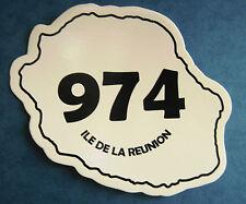 Autocollant Ile de la Réunion 974