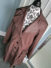 BOD & CHRISTENSEN Made in INDIA Brown Soft Leather Full Length Coat