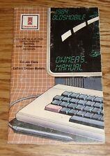 Original 1984 Oldsmobile Cutlass Ciera & Cruiser Owners Operators Manual 84
