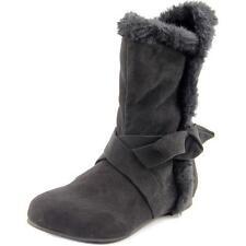 Chaussures noirs moyens en daim pour garçon de 2 à 16 ans