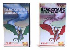 1980's Galoob Filmation 2 x vintage BLACKSTAR CARTOON BETAMAX SPANISH VIDEOTAPES