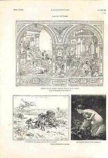 Beaux-Arts Paris Salon Peinture Naïade de Charles Landelle & Dubufe GRAVURE 1882
