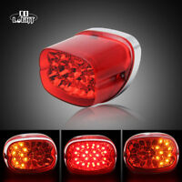 Red Motorcycle LED Brake Tail Light Integrated Turn Signal For Sportster 883