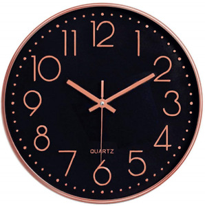 Silent Wall Clock Foxtop Large Modern Decorative Wall Clock Non-ticking for Room
