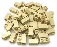 Lego 50 New Tan Bricks Modified 1 x 1 x 1 2/3 with Studs on 1 Side Pieces