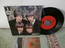 """the beatles""""help!.ep7""""odeon:meo113.red label sacem + VERSO DIFFERENT 1971."""
