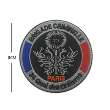 France PARIS Policemen badges patches BRIGADE CRIMINELLE Army Embroidery patch