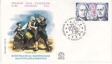Enveloppe 1er jour FDC n°962 - 1976 : L'Indépendance des Etats Unis d'Amérique