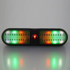 Portable Wireless Bluetooth LED FM Stereo Speaker For Smartphone Laptop Black