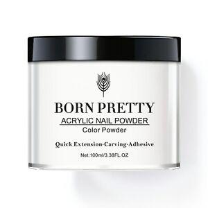 BORN PRETTY 100ml Acrylic Nail Art Dipping Powder  Dust UV Gel Lipuid Tips Decor