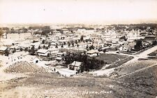 Havre Montana~Birdseye Panorama~Homes~Backyards~ St Jude's Church~c1915 Rppc