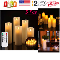 Flameless Candles Flickering Ivory LED Real Pilar Remote Control with Timer