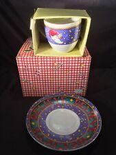 New Nib Mary Engelbreit Me Christmas Believe Tea Cup & Saucer Santa Holiday Set