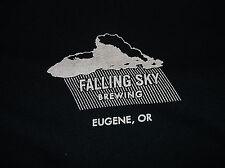 FALLING SKY Brewing Eugene Oregon T Shirt Sz Small S 100% Cotton Black OR