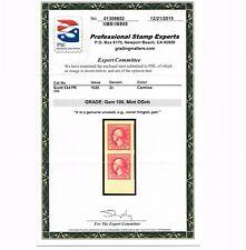 EXCEPTIONAL GENUINE SCOTT #534 MINT OG NH PAIR PSE CERT GRADED GEM-100 #9689