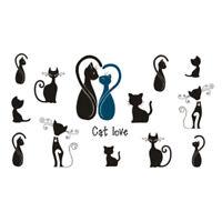 Tatoo tatouage éphémère chat LOVE noir kawaï manga coloris argent