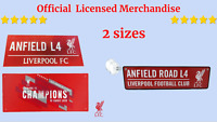 Liverpool Fc Red Champions Of Europe Metal Street Wall Sign Hanging Metal 3D