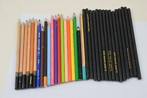 Job Lot Bundle of Artist's Colour Pencils & Charcoal Pencils   #W30-5