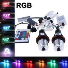 10W RGB Remote Angel Eyes LED Ring Marker Light Bulbs For BMW E39 E60 E63 X3 X5
