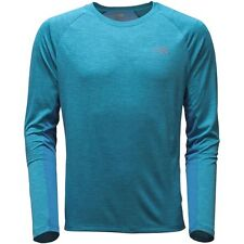 The North Face Hombre Ambition Transpirable Correr L/S Camiseta Azul M Medio