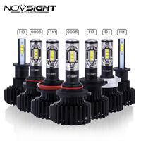 NOVSIGHT 2X 12000LM LED Headlight Car Driving Light Bulbs White H1 H4 H7 H11 H15