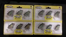 4 packs brand new Storm wildeye live crappie soft plastic fishing lures,6cm