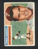 1956 Topps #180 Robin Roberts VG/VGEX Phillies Grey Backs 126176