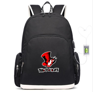 Anime Persona 5 backpack USB charging Mochila travel Bag teenagers School Bags