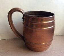 Looks Old & Rusted Vtg Solid Copper Cavalier by National Silver Mug/Cup w/Handle