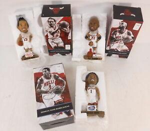 Lot of 3 Chicago Bulls Bobbleheads 2014-2015 Derrick Rose Joakim Noah Taj Gibson