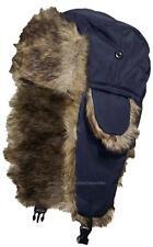 Toddler Soft Nylon Russian/Trapper Winter Ear Flap Hat Ski Toboggan #193 Navy