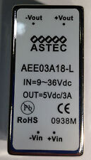 Isolated DC/DC Converters 15W 9-36Vin NOS P/N AEE03A18-L