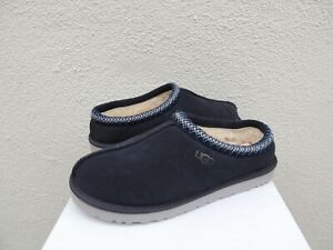 UGG TASMAN TRUE NAVY SUEDE/ SHEEPSKIN SLIPPERS SHOES, MEN US 8/ EUR 41 ~NEW