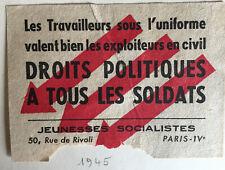 images et symboles du Parti Socialiste SFIO Droits politiques à tous les soldats