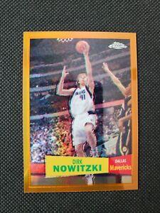 2007-08 DIRK NOWITZKI TOPPS CHROME ORANGE REFRACTOR SP INSERT PARALLEL! 14/199!